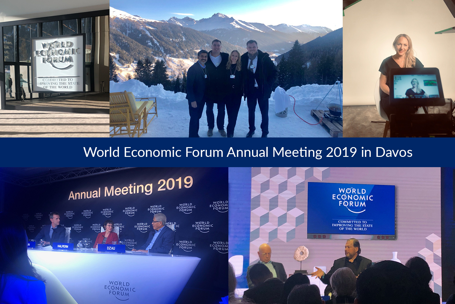 Image collage from the World Economic Forum Annual Meeting 2019 in Davos