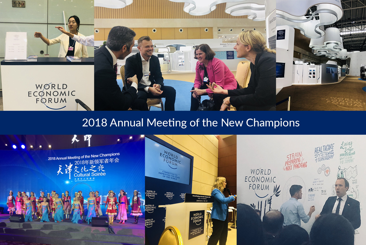 Collage from the 2018 Annual Meeting of the New Champions