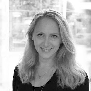 Black and white portrait of Dr. Kristina Lagerstedt